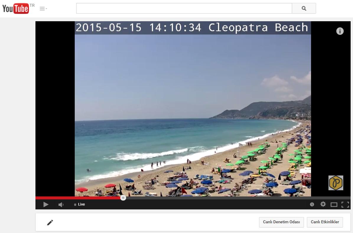 youtube live encoding on cleopatra Beach Alanya